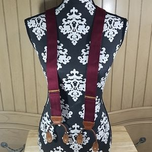 Vintage Trafalgar Maroon Suspenders